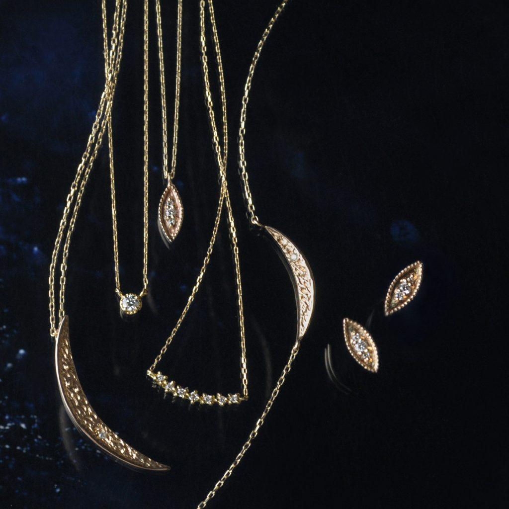ダイヤモンド、K10イエローゴールドジュエリー