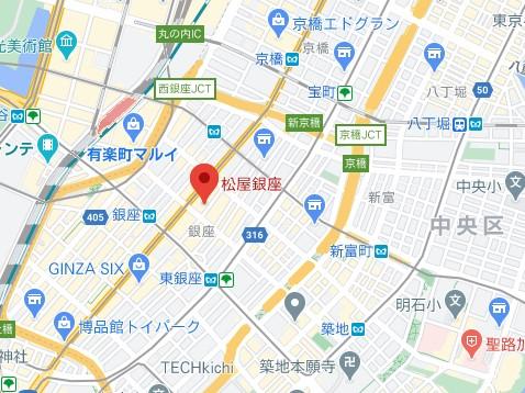 松屋銀座マップ